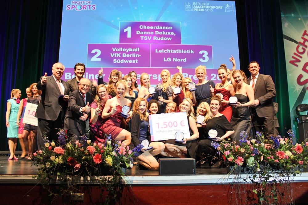 Der Berliner Amateursport-Preis 2016 geht an Dance Deluxe