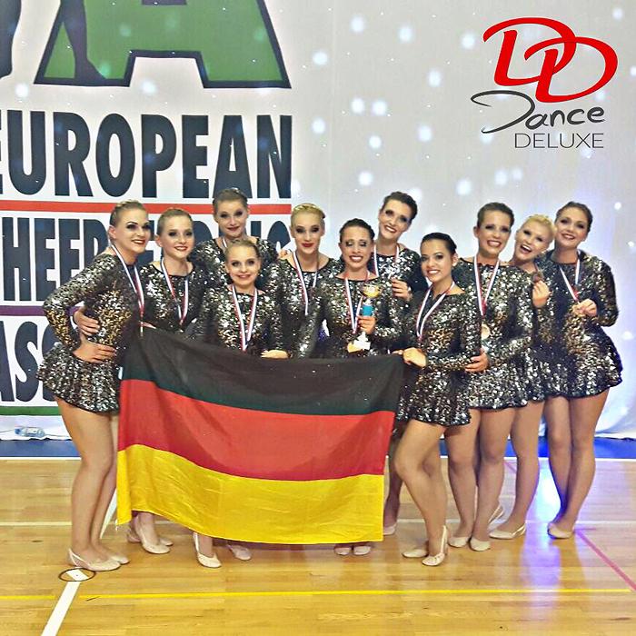 Dance Deluxe verteidigt Europameistertitel im Cheerdance